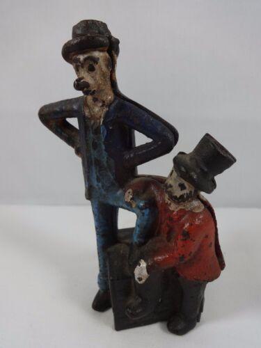 Antique Mutt & Jeff Cast Iron Coin Vintage Piggy Bank