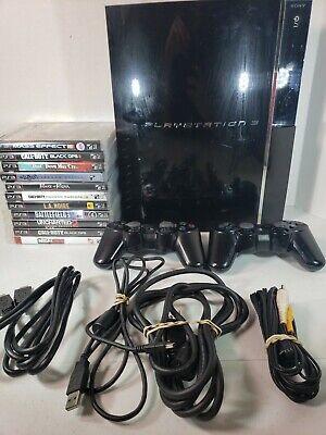 Sony PlayStation 3 PS3 Backwards Compatible Huge Bundle Lot CECHE01 (11) Games