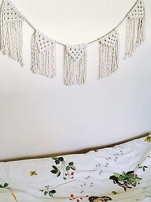 macrame wall hanging//bunting//banner//baby room decor