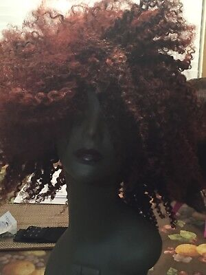 Luvme afro kinky wig human hair for sale can be dyed, dyed already but can - Red Wigs For Sale