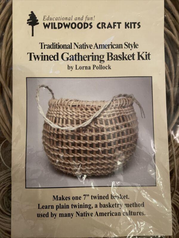 Wildwoods Craft Kit Twined Gathering Basket Kit Native American Style