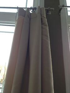 Colin & Justin beige blackout curtains