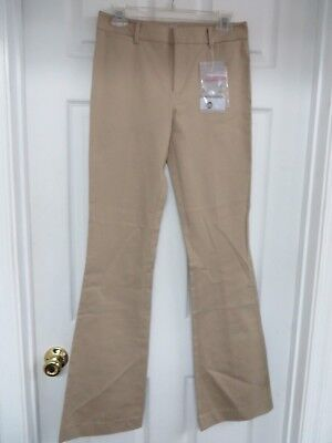 NWT PRADA Stretch Cotton Gabardine Boot leg Tan  Pants 40/4  MSRP $415