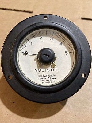 Western Electric Dc Volts 0-5 Vintage Panel Meter