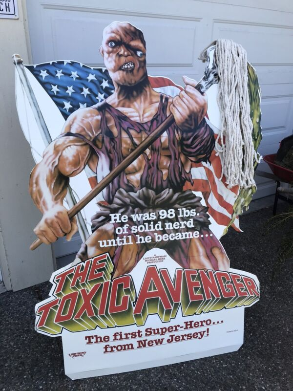 Toxic Avenger Horror Movie Video Store Promotional Standee Troma Films