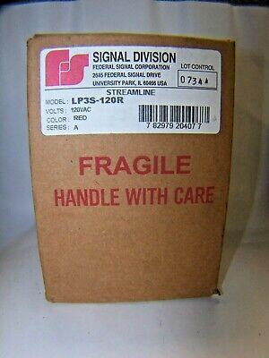 New Federal Signal Strobe Light Red Streamline 120 Vac Ser A Lp3s-120r