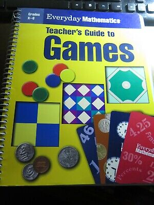 Everyday Mathematics Teacher's Guide to Games Grades K-6 Paperback Free Shipping