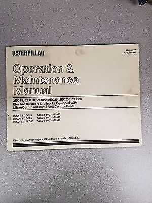 Caterpillar 2ec15 18 20 25 25e 30 Operation And Maintenance Manual