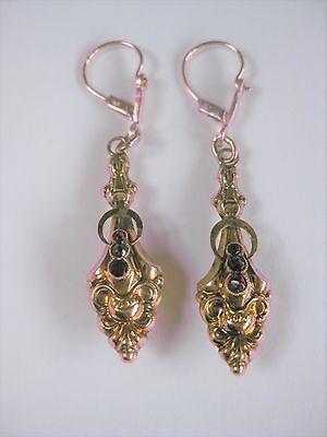 Antike Ohrringe Gold 585 mit Granat