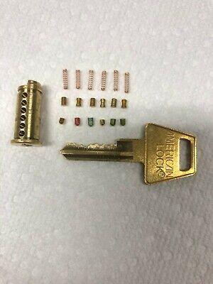 American Lock Padlock Cylinder Replacement Aptkb2 Six Pin Key And Cylinder
