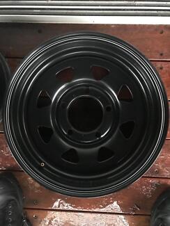 4 Speedy Steel Wheels with caps Peats Ridge Gosford Area Preview