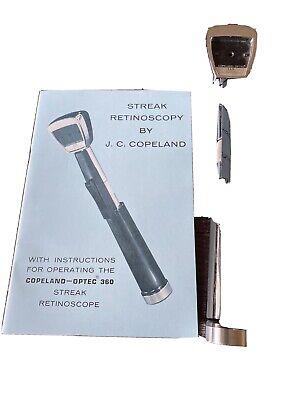 Copeland-optec 360 Streak Retinoscope Ophthalmology Optometry Equipment Book