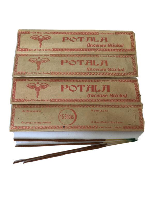 4 Tibetan Hand Rolled POTALA INCENSE STICK Natural Yoga Scent NEPAL 15P Pck