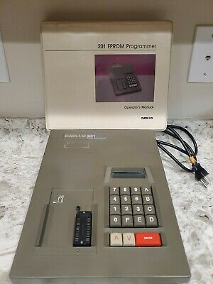 Data Io 201 Eprom Memory Devices Programmer With Operators Manual