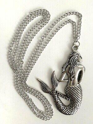 NEW Laghcat MERMAID Pendant Necklace SILVER TONE Cast Ocean