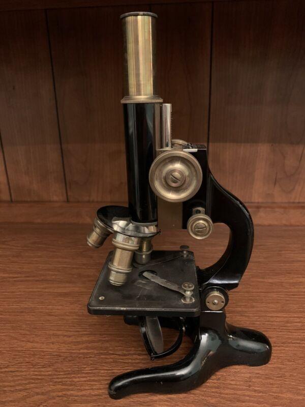 Antique KREMP WETZLAR MICROSCOPE Rare #8133 Germany w Leitz Oel Lens Kremp 3 & 6