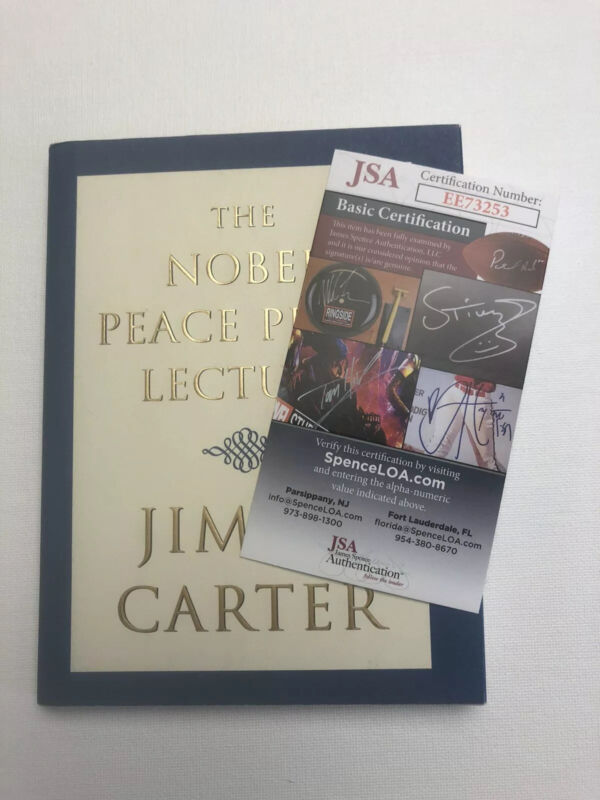 Signed Jimmy Carter Book The Nobel Peace Prize Lecture H/C JSA Certified