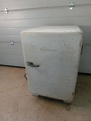 alter Bauknecht Metall Kühlschrank 50er Jahre Retro Vintage unrestauriert # 381
