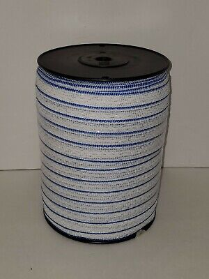 Electric Fence Polytape Bluewhite 1 X 660 Spliced