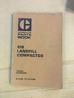 Caterpillar 816 Landfill Compactor Parts Book