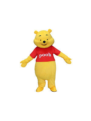 Winnie the Pooh Bear Halloween Adult Mascot Costume Fancy Dress Cosplay Outfit - Winnie The Pooh Halloween Costumes Adults