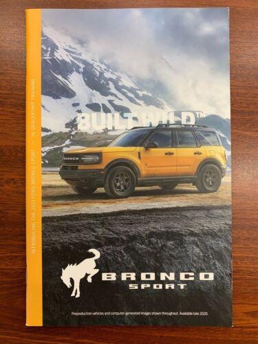 2021 Ford Bronco Sport In-Dealer Training Order Guide Brochure Badlands 36 Pages