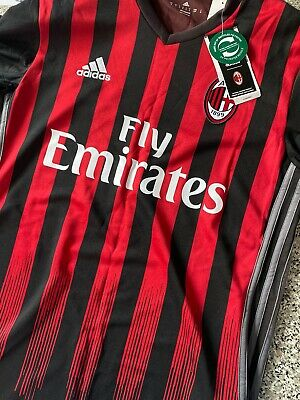 Adidas Fly Emirates Jersey Black Red Small S