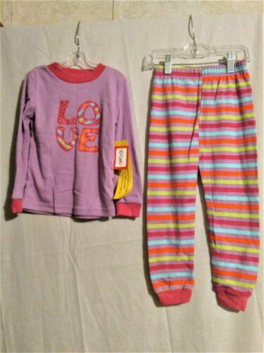 3T Kidgets girl purple LOVE long sleeve pajama set