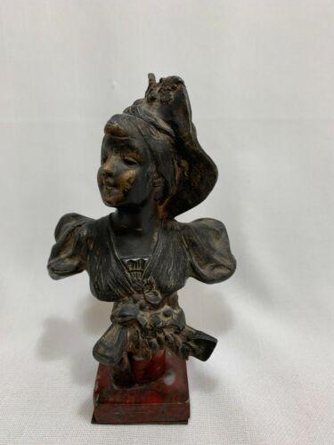 Antique Art Nouveau Bronze Bust Small Statue France
