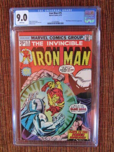 Iron Man 75 CGC 9.0 Black Lama