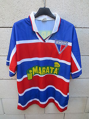 VINTAGE Maillot FORTALEZA Brésil n°10 1999/2000 jersey shirt camiseta Brasil M image