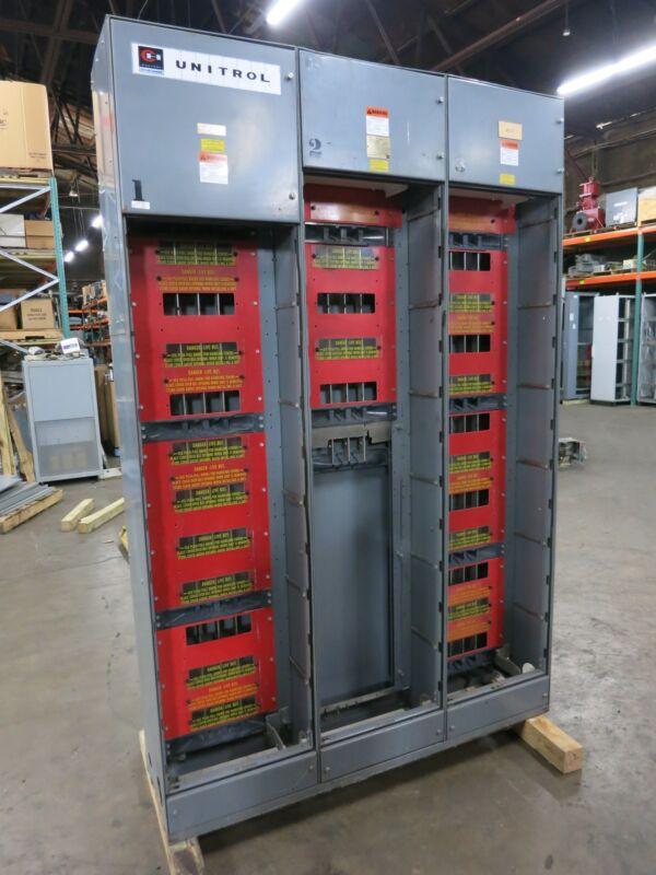 F10 Unitrol 600/400 Amp 480V 3x Section MCC Motor Control Center 3PH 600A 400A
