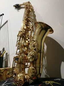 Alto saxophone with case