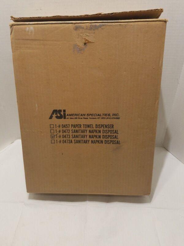 American Specialties ASI 0473 Surface Sanitary Napkin Disposal W/ Lock