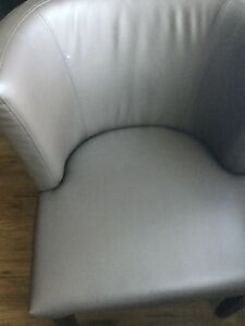4 leather dining room chairs for sale