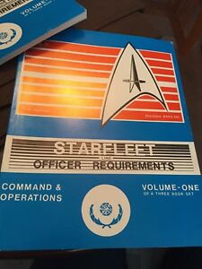 Star Trek Star-fleet line Officer Requirements Vol 1 *Vintage*