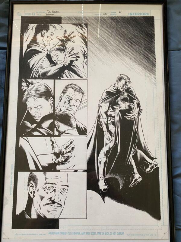 Batman #654 Page 21 Original Art Bruce Adopts Tim Milestone Robin Don Kramer
