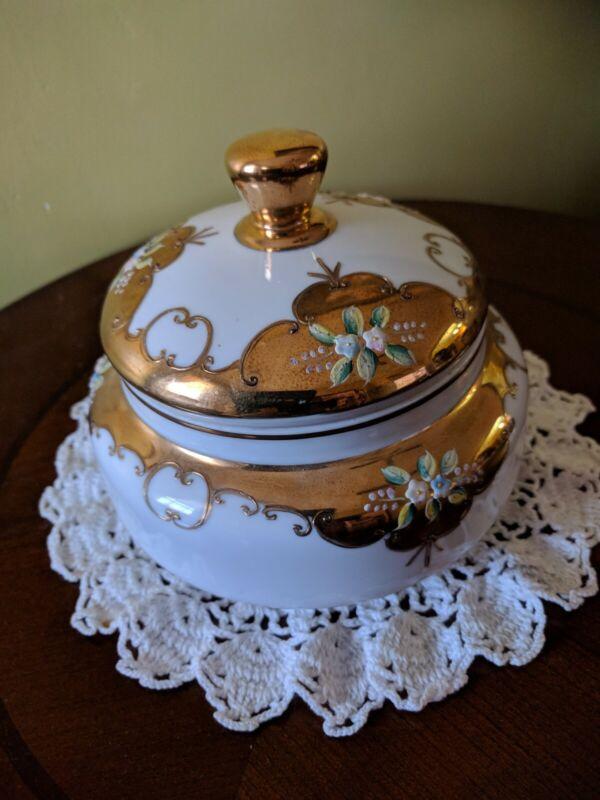 Rare Gold Royal Carlton Covered Vegetables Dish
