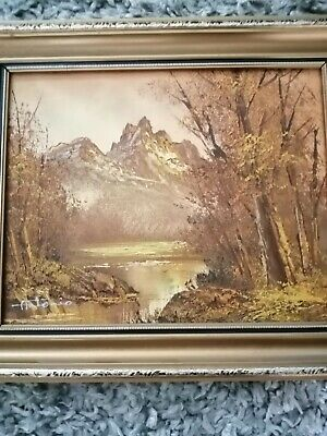 Vintage Antonio Oil Painting 30x27 Cm