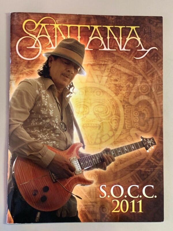 SANTANA SOCC 2011 Concert Tour Program VERY GOOD CONDITION Original