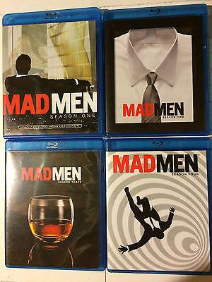 Mad Men Seasons 1  2  3   4 Blu Ray     Like New