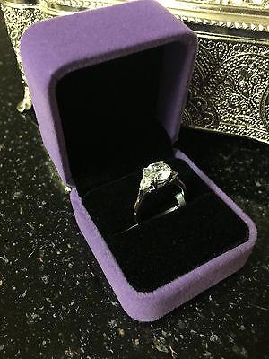 2Ct Round Cut Diamond Engagement Ring White Gold Toned Bridal Ring Size 6