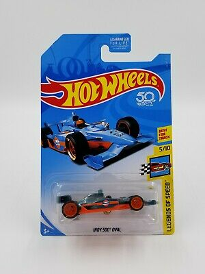 Hot Wheels 2018 Super Treasure Hunt Indy 500 Oval Gulf With Protector