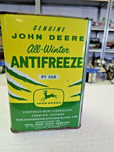 Very Rare John Deere Four Legged Anti Freeze Coolant Can PT550 Oil JD One Gallon