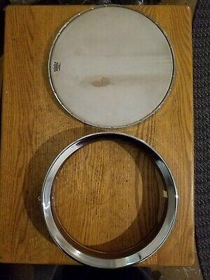 Walnut & Maple banjo rim w/flathead tonering, head and notched stretcher band