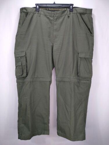 Boy Scouts Of America Womens 24W (46 X 28) Cargo Zip Off Pants Green Exp. Waist