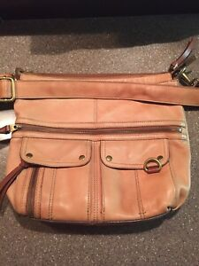 Fossil Camel Leather Crossbody Purse