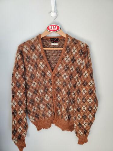 Vintage Mohair Cardigan Cobain Sweater Fuzzy Grunge Men