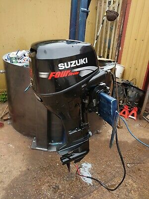 Suzuki 25hp 4 stroke electric start outboard motor remote control long shaft