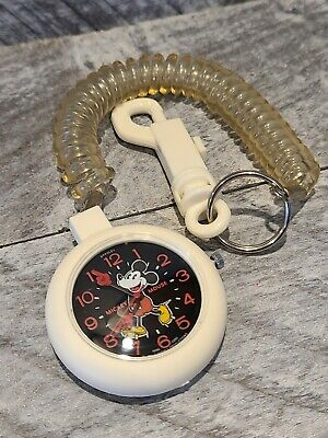 Rare 1970's Bradley Mickey Mouse Pocketwatch Working
